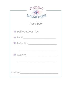 Finding Diamonds Prescription Pad
